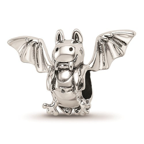 Sterling Silver Reflections Bat Bead