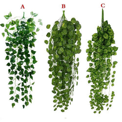 Artificial Hanging Plant Leaves