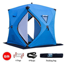 Load image into Gallery viewer, Ice Fishing Tent -  Fits 4 People Comfortably - Insulated, Waterproof, and Windproof - Big Game Fishing