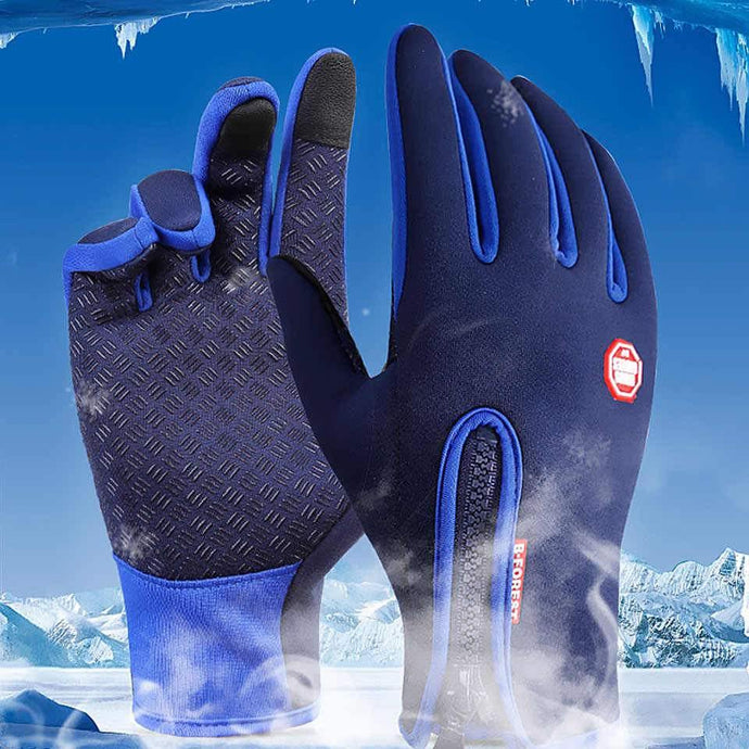 Cold Climate Ice Fishing Gloves - with Touch Screen Finger Tips - Waterproof, Thermal Insulated, and Heated - for Winter / Cold Weather - Big Game Fishing