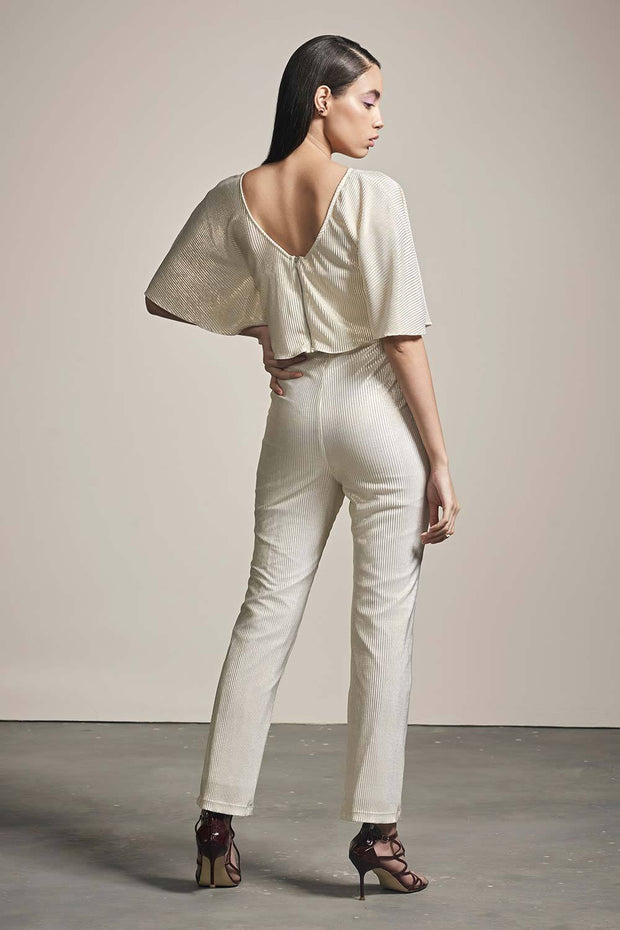 BEIGE PLEATED PANTS - MellowDrama