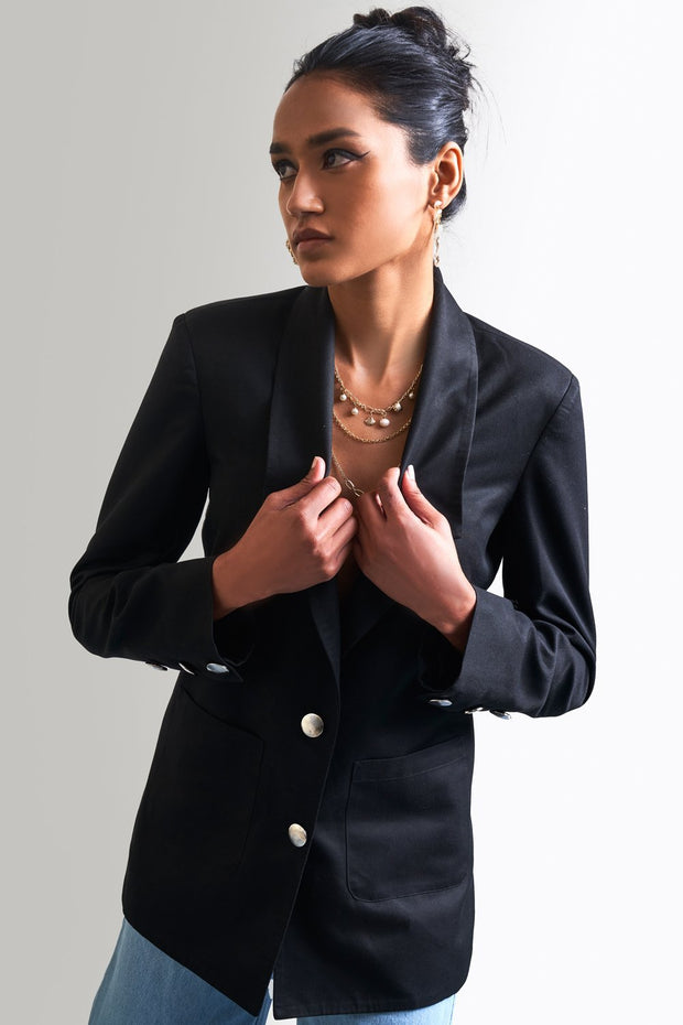 BLACK TAILORED BLAZER - MellowDrama