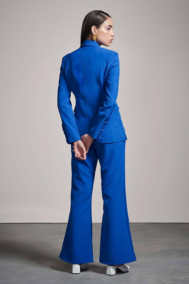 BLUE FIT & FLARE PANTS - MellowDrama