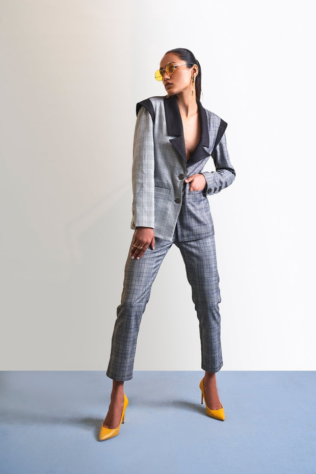 CHECK PANTSUIT SET - MellowDrama