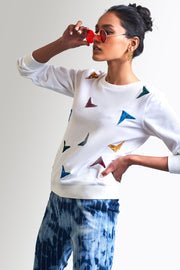 COLORFUL EMBROIDERED SWEATSHIRT - MellowDrama