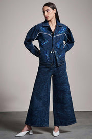 DENIM FLARE PANTS - MellowDrama