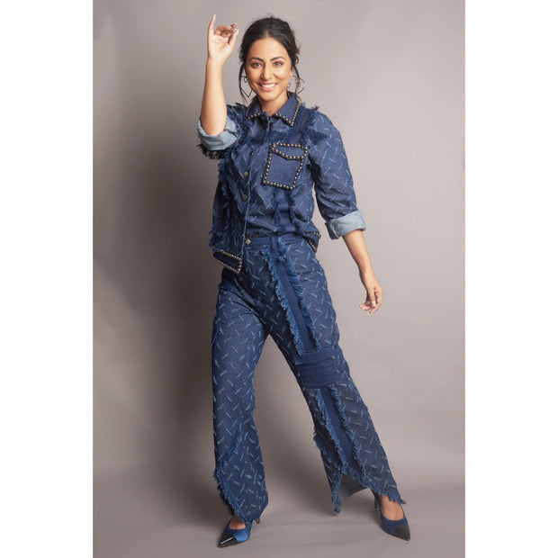 Hina Khan in our RIPPED DENIM SET - MellowDrama