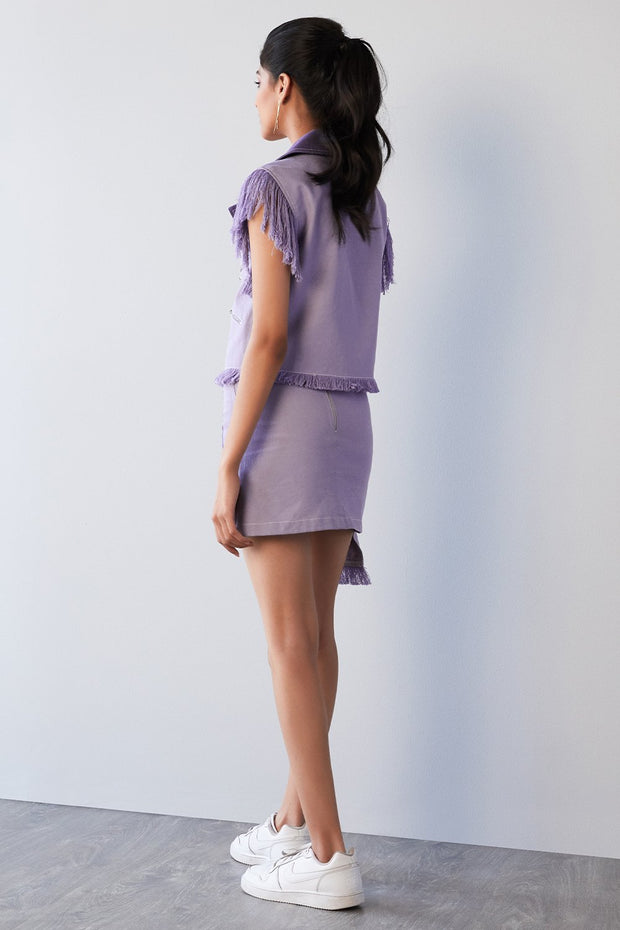 LILAC DENIM SKIRT - MellowDrama