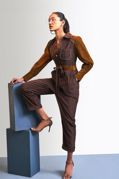 MIX & MATCH CORDUROY JUMPSUIT - MellowDrama