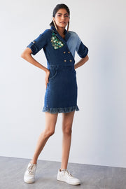 MIX & MATCH DENIM DRESS - MellowDrama