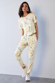 MULTICOLOR PRINT JERSEY PANTS - MellowDrama