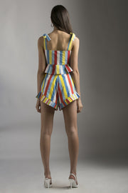 MULTICOLOR STRIPE SHORTS - MellowDrama