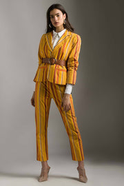 MUSTARD STRIPE PANTS - MellowDrama