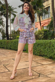 NATASHA LUTHRA IN OUR PRINTED CHECK PLAYSUIT - MellowDrama