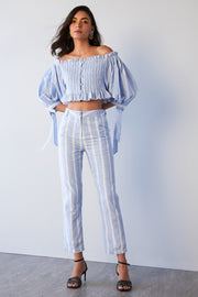 OFF SHOULDER SMOCKING TOP - MellowDrama