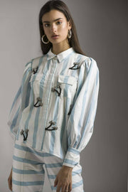 PALM TREES EMBELLISHED SHIRT - MellowDrama