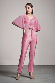 PINK PLEATED PANTS - MellowDrama