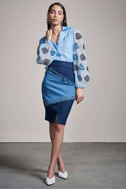 POWDER BLUE ORGANZA SHIRT - MellowDrama