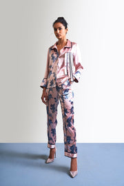 PRINTED SATIN PANTS - MellowDrama