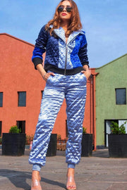 Priyanka Sagu in our BLUE BOMBER & JOGGERS COORDINATE SET - MellowDrama