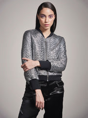 SILVER QUILTED JACKET - MellowDrama