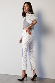 STRIPE & ORGANZA PANTS - MellowDrama