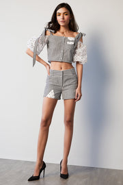 STRIPE & ORGANZA SHORTS - MellowDrama