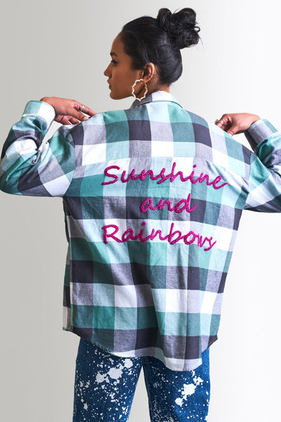 SUNSHINE & RAINBOWS OVERSIZE SHIRT - MellowDrama