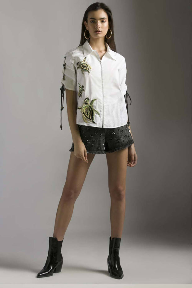 TURTLE EMBELLISHED SHIRT - MellowDrama