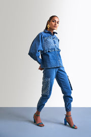 WASHED DENIM MIX & MATCH COORDINATE SET - MellowDrama