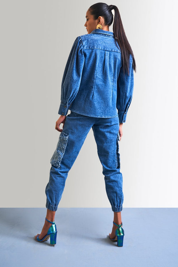 WASHED DENIM MIX & MATCH SHIRT - MellowDrama