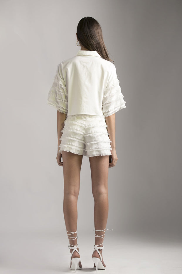 WHITE FRAYED SHORTS - MellowDrama