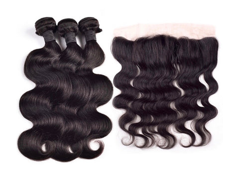 3 Bundles & Frontal - Body Wave