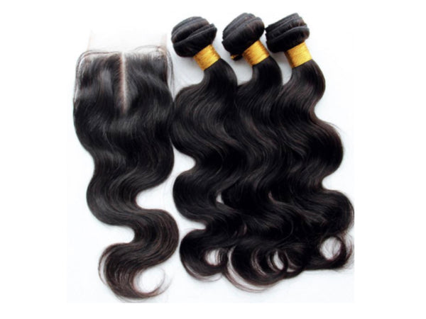 3 Bundles & Closure - Body Wave