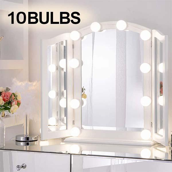 10PCS LED Vanity Mirror Lights Dimmable Bulbs