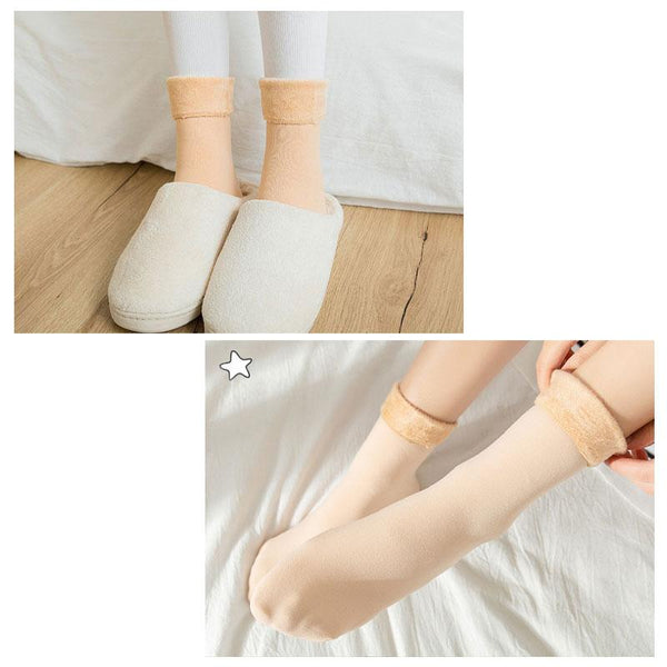 Women's Thickening And Velvet Snow Socks