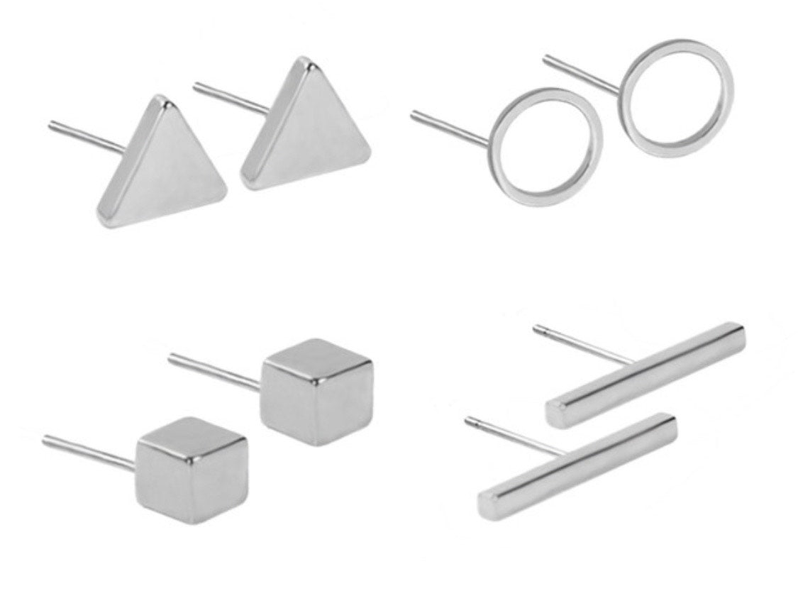50% off today! : Celebration Set of 4 minimalist style earrings!