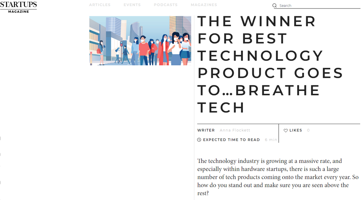 Breathe Tech Best Tech Product