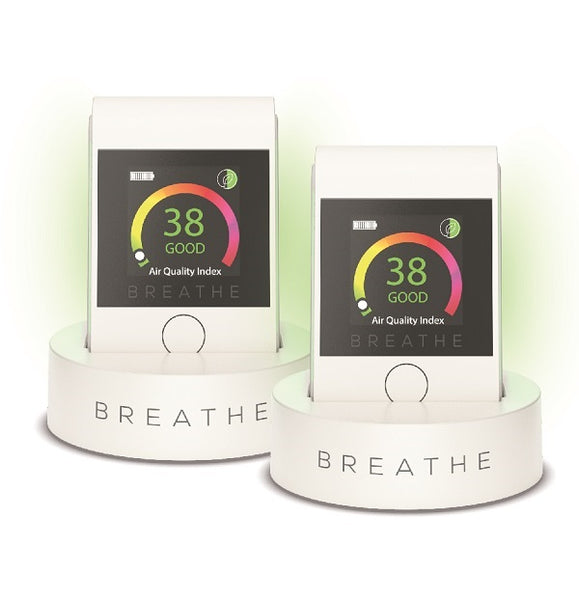 BREATHE|Smart 2 Air Quality Monitor TWIN PACK