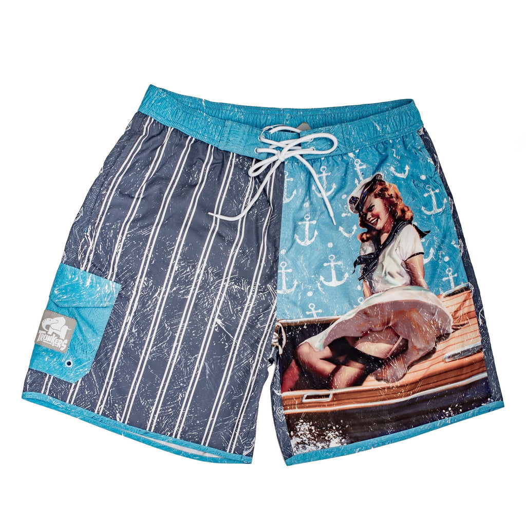 VINTAGE ANCHOR OUT TRUNKERS SWIM TRUNKS