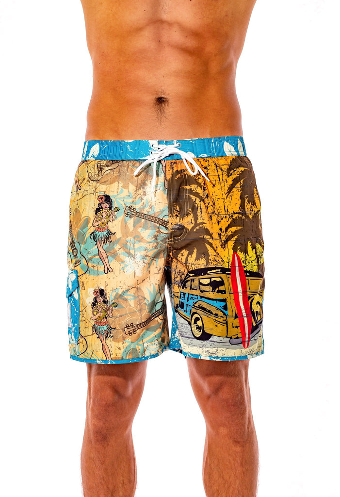 SURF-N-SAFARI TRUNKERS SWIM TRUNKS