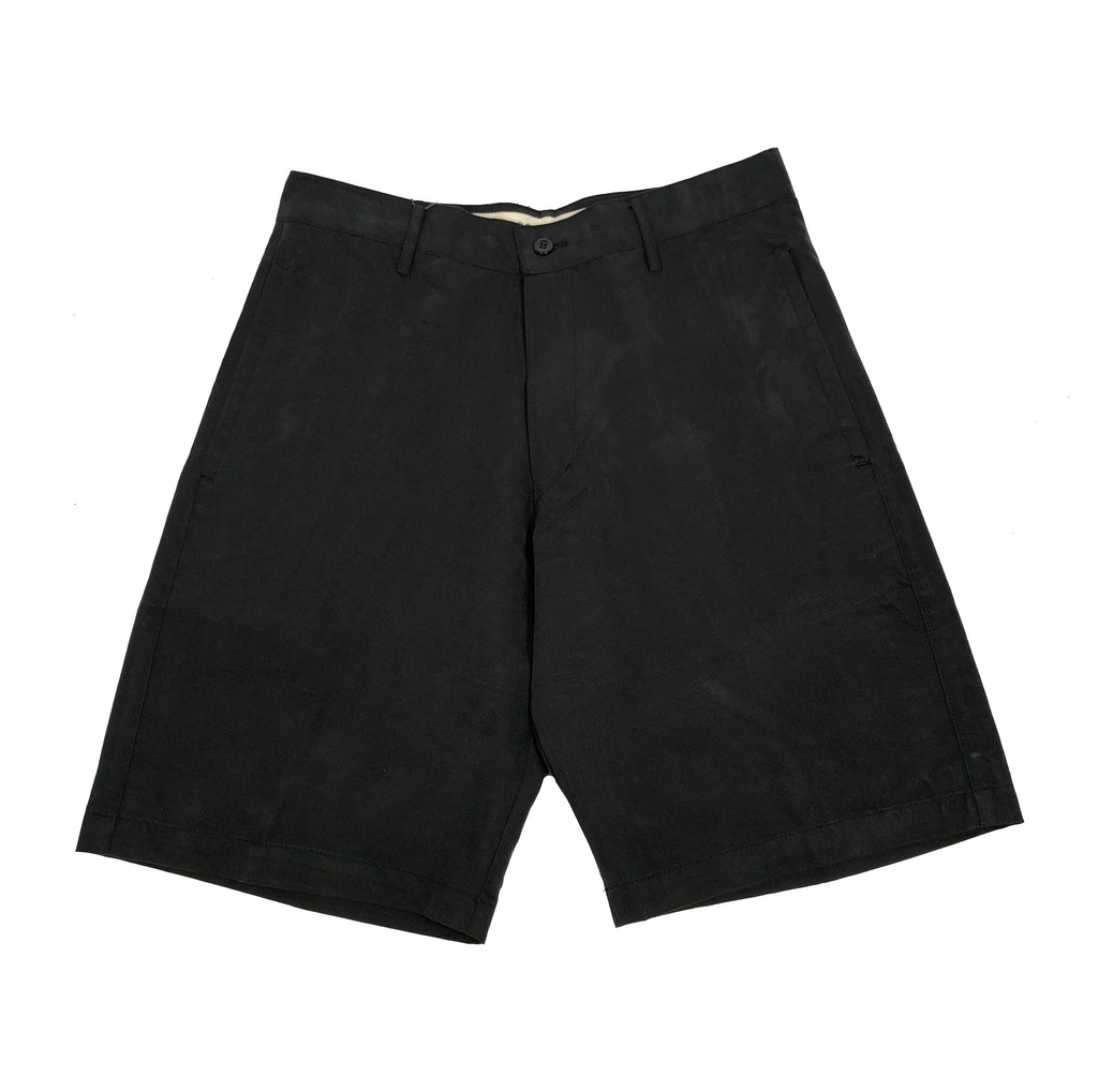 Modal Island Soft Flat Shorts - Black