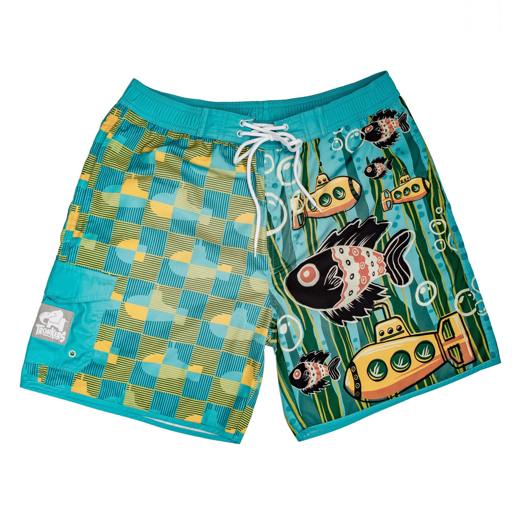 YELLOW SUBMARINES TRUNKERS SWIM TRUNKS