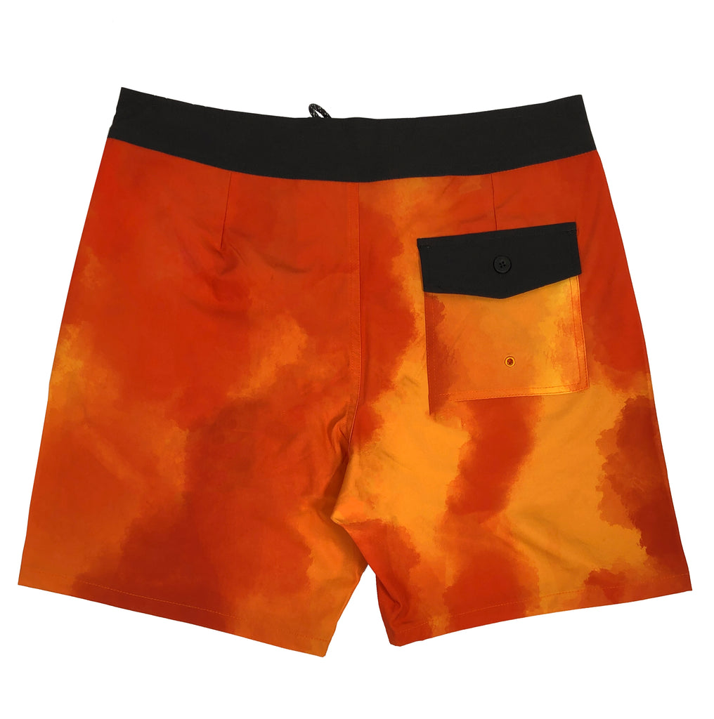 Thriller Orange Inertia Board Shorts