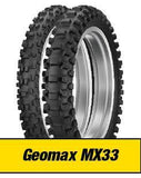 DUNLOP GEOMAX MX33 COMBO SET FRONT AND REAR 120/80-19 & 80/100-21
