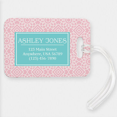 Square Geometric Design Customized Luggage Tag