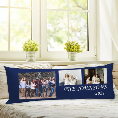 Family 3 Photo Body Pillow Case of Your Photo | Create Your Own Personalized Photo Pillow
