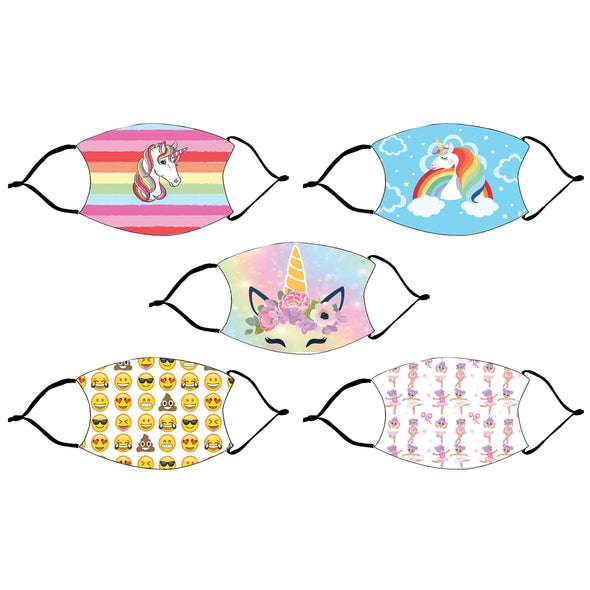 Kids Fashion Design Printed Reusable Face Mask
