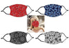 Set of 2 Face Mask w/ Black Stripe - Bandana Designs