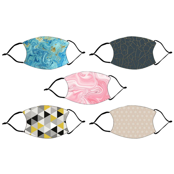 Marble Fashion Design Printed Reusable Face Mask.